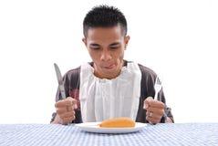 πεινασμένο άτομο Στοκ εικόνα με δικαίωμα ελεύθερης χρήσης