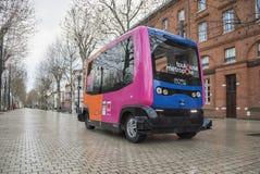 Πειραματικά driverless τρεξίματα λεωφορείων στην Τουλούζη, Γαλλία Στοκ εικόνες με δικαίωμα ελεύθερης χρήσης