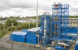 Πειραματική οργάνωση στο ίδρυμα καθαρισμού πετρελαίου στοκ εικόνα