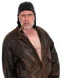 Πειραματικός αεροπόρος ot αστείων, τρομακτικών σκληρών ανδρών Στοκ Φωτογραφία