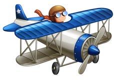 Πειραματικός οδηγώντας το αεροπλάνο διανυσματική απεικόνιση