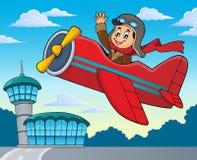 Πειραματικός στην αναδρομική εικόνα 2 θέματος αεροπλάνων διανυσματική απεικόνιση