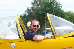 Πειραματικός στο πιλοτήριο Στοκ Εικόνες