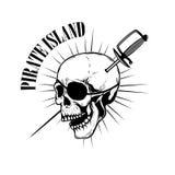 Πειρατές Πρότυπο εμβλημάτων με τα ξίφη και το κρανίο πειρατών Στοιχείο σχεδίου για το λογότυπο, ετικέτα, έμβλημα, σημάδι ελεύθερη απεικόνιση δικαιώματος