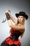 Πειρατής γυναικών Στοκ εικόνες με δικαίωμα ελεύθερης χρήσης