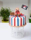 Πειρατής κέικ Στοκ εικόνες με δικαίωμα ελεύθερης χρήσης