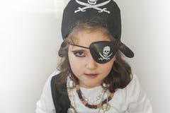 πειρατής κοριτσιών κοστ&omic Στοκ φωτογραφίες με δικαίωμα ελεύθερης χρήσης