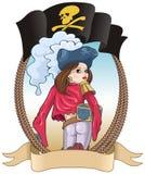 πειρατής κοριτσιών ελεύθερη απεικόνιση δικαιώματος