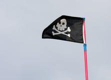 πειρατής μαύρων σημαιών Στοκ φωτογραφία με δικαίωμα ελεύθερης χρήσης