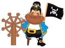 Πειρατής με τη συστροφή και το μαύρο σημάδι ελεύθερη απεικόνιση δικαιώματος