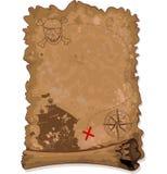 πειρατής χαρτών στον τρόπο θησαυρών Στοκ Φωτογραφίες