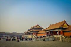 ΠΕΚΙΝΟ, ΚΙΝΑ - 29 ΙΑΝΟΥΑΡΊΟΥ 2017: Όμορφη πόλη κτηρίου ναών απαγορευμένη μέσα, χαρακτηριστική αρχαία κινεζική αρχιτεκτονική Στοκ εικόνα με δικαίωμα ελεύθερης χρήσης