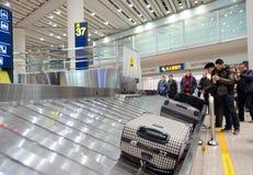Περιοχή αξίωσης αποσκευών αερολιμένων Στοκ εικόνα με δικαίωμα ελεύθερης χρήσης