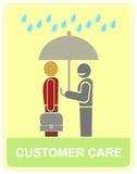 πελάτης προσοχής ελεύθερη απεικόνιση δικαιώματος