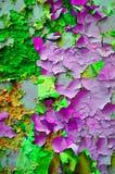 Πελεκημένος πράσινος πορφυρός κίτρινος ασβεστοκονιάματος στοκ φωτογραφία
