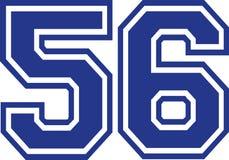 Πενήντα έξι κολλέγιο αριθμός 56 Ελεύθερη απεικόνιση δικαιώματος