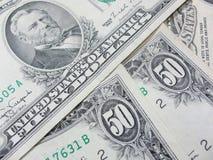 Πενήντα αμερικανικά δολάρια Στοκ φωτογραφία με δικαίωμα ελεύθερης χρήσης