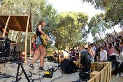 Πενθήστε (ζώνη από την Καταλωνία) στη συναυλία στο φεστιβάλ Vida στοκ φωτογραφία
