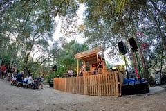 Πενθήστε (ζώνη από την Καταλωνία) στη συναυλία στο φεστιβάλ Vida στοκ εικόνες με δικαίωμα ελεύθερης χρήσης