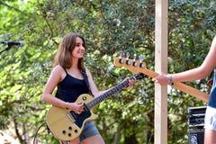 Πενθήστε τη ζώνη από την Καταλωνία στη συναυλία στο φεστιβάλ Vida στοκ φωτογραφίες με δικαίωμα ελεύθερης χρήσης