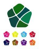 Πενταγωνικό διανυσματικό στοιχείο λογότυπων σχεδίου Στοκ Εικόνες