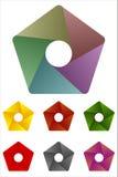 Πενταγωνικό στοιχείο λογότυπων σχεδίου. Στοκ Εικόνα