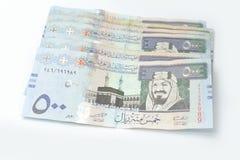 πεντακόσια riyals Σαουδάραβα στοκ εικόνες