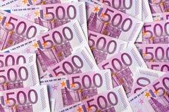 Πεντακόσιες ευρο- σημειώσεις Στοκ εικόνες με δικαίωμα ελεύθερης χρήσης