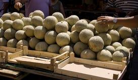 πεπόνι αγοράς στοκ φωτογραφία