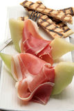 πεπόνι ζαμπόν γευμάτων Στοκ εικόνες με δικαίωμα ελεύθερης χρήσης