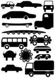 περίγραμμα αυτοκινήτων διανυσματική απεικόνιση