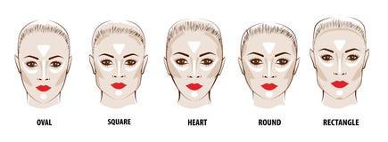 Περίγραμμα και κυριώτερο σημείο makeup Στοκ φωτογραφίες με δικαίωμα ελεύθερης χρήσης