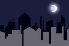 περίγραμμα πόλεων νυχτερ&iota Στοκ Εικόνες