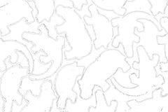 Περίγραμμα των ζώων στη μη συνεχή διπλή γραμμή, κροκόδειλος, χελώνα, hippopotamus Στοκ Εικόνα