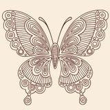 Περίγραμμα Doodles πεταλούδων Στοκ φωτογραφία με δικαίωμα ελεύθερης χρήσης
