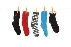 Περίεργες κάλτσες Στοκ Εικόνες