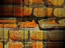 Περίεργος ριγωτός γραφικός Brickwall Στοκ φωτογραφία με δικαίωμα ελεύθερης χρήσης