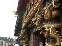 Περίκομψες λεπτομέρειες στο τεράστιο επιπλέον εστιατόριο, Αμπερντήν, Χονγκ Κονγκ στοκ εικόνα