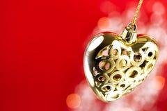 Περίκομψη χρυσή καρδιά Στοκ φωτογραφία με δικαίωμα ελεύθερης χρήσης