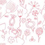 Περίκομψη floral άνευ ραφής σύσταση Στοκ Εικόνα