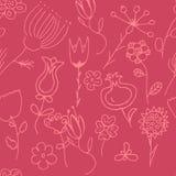 Περίκομψη floral άνευ ραφής σύσταση Στοκ Φωτογραφία