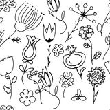 Περίκομψη floral άνευ ραφής σύσταση Στοκ Εικόνες