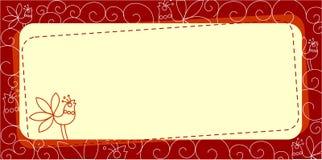 Περίκομψο έμβλημα με το πουλί Στοκ φωτογραφία με δικαίωμα ελεύθερης χρήσης