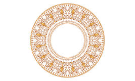 Περίκομψο διανυσματικό πιάτο με την ανατολική, αραβική κυκλική διακόσμηση ύφους Στοκ φωτογραφία με δικαίωμα ελεύθερης χρήσης