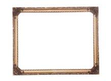 Περίκομψο παλαιό χρυσό επιχρυσωμένο πλαίσιο Στοκ εικόνες με δικαίωμα ελεύθερης χρήσης