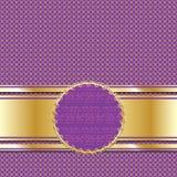 Περίκομψο χρυσό ιώδες υπόβαθρο Στοκ εικόνες με δικαίωμα ελεύθερης χρήσης
