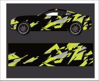 Περίληψη αυτοκινήτων και οχημάτων που συναγωνίζεται το γραφικό υπόβαθρο εξαρτήσεων για το περικάλυμμα και τη βινυλίου αυτοκόλλητη διανυσματική απεικόνιση