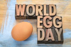 Περίληψη λέξης ημέρας παγκόσμιων αυγών Στοκ Εικόνες
