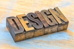 Περίληψη λέξης σχεδίου στον ξύλινο τύπο Στοκ εικόνα με δικαίωμα ελεύθερης χρήσης