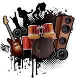 Περίληψη μουσικής ροκ διανυσματική απεικόνιση